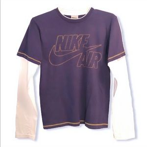 Nike Air Long Sleeve Tee Purple, White 100% Cotton